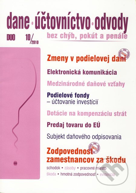 Fatimma.cz Dane, účtovníctvo, odvody 10/2010 Image