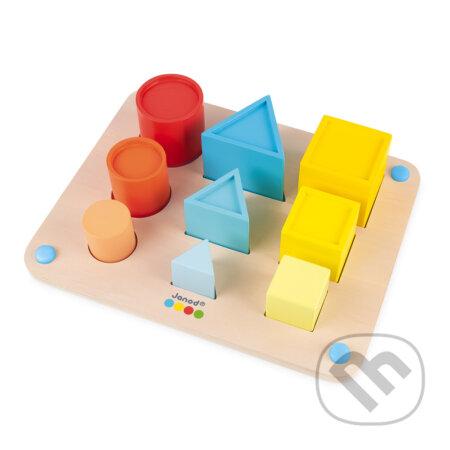 Učíme sa tvary farby veľkosti séria Montessori - Janod