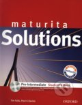 Maturita Solutions - Pre-Intermediate - Student's Book + CD - Tim Falla, Paul Davies