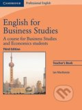 English for Business Studies - Teacher Book (Third Edition) - Ian Mackenzie