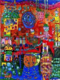 Hundertwasser, 936 the 30 Days Fax Painting -