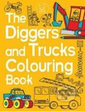 The Diggers and Trucks Colouring Book - Chris Dickason