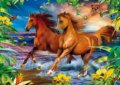 Horses in the surf 3D -