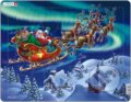 Puzzle Santa Claus and his sleigh -