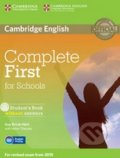 Complete First for Schools - Student's Book without Answers - Guy Brook-Hart, Helen Tiliouine