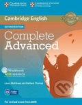 Complete Advanced - Workbook with answers - Laura Matthews and Barbara Thomas