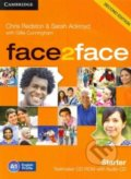Face2Face: Starter -Testmaker CD-ROM and Audio CD - Chris Redston, Sarah Ackroyd, Gillie Cunningham