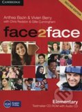 Face2Face: Elementary - Testmaker CD-ROM and Audio CD - Anthea Bazin, Vivien Berry