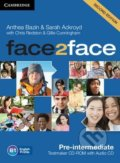 Face2Face: Pre-intermediate - Testmaker CD-ROM and Audio CD - Anthea Bazin, Sarah Ackroyd, Chris Redston, Gillie Cunningham