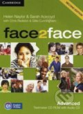 Face2Face: Advanced - Testmaker CD-ROM and Audio CD - Helen Naylor, Sarah Ackroyd, Chris Redston, Gillie Cunningham