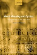 Word Meaning and Syntax - Stephen Wechsler