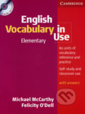 English Vocabulary in Use - Elementary (+CD) - Michael McCarthy, Felicity O´Dell