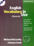 English Vocabulary in Use - Advanced (+CD) - Michael McCarthy, Felicity O´Dell