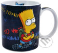 Porcelánový hrnek The Simpsons/Simpsnovi: Bart (objem 320 ml) bílý porcelán [0109507] CurePink -