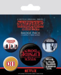 Placky Stranger Things: Upside Down set 5 kusov -