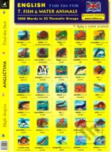 English - Find the Pair 07. (Fish & Water Animals) -